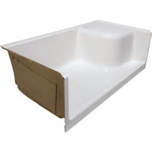 seasons keating shower base with left seat right