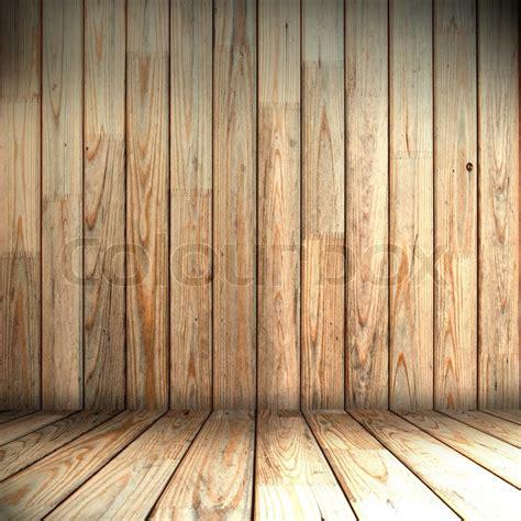 holz wand und boden in den raum stockfoto colourbox - Schiebetür Holz In Wand