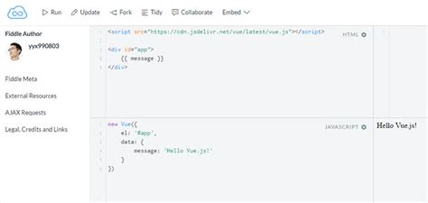 javascript tutorial jsfiddle best free vue js learning resources