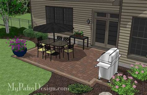 Patio Designs Rectangular Diy Rectangular Patio Design Downloadable Patio Plan