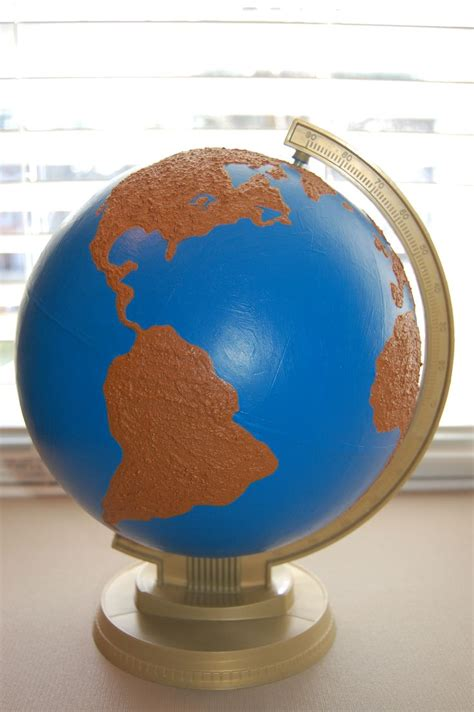 Water Globe diy land and water globe montessori culture