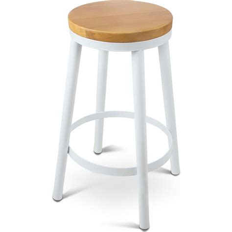 Stackable Bar Stools Sale by 2x Wooden Stackable Seat Bar Stools In White Buy
