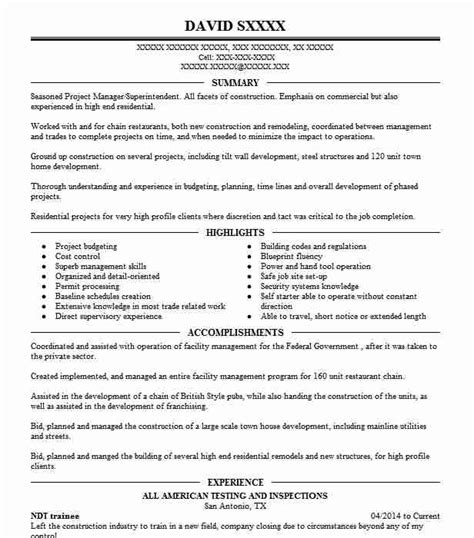 Ndt Trainee Resume