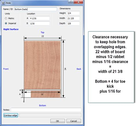 dado on board surface with cabinet design software