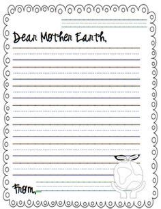 earth day writing paper earth day on earth day activities the lorax