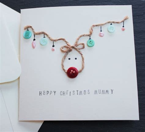 Handmade Reindeer Cards - items similar to handmade card reindeer