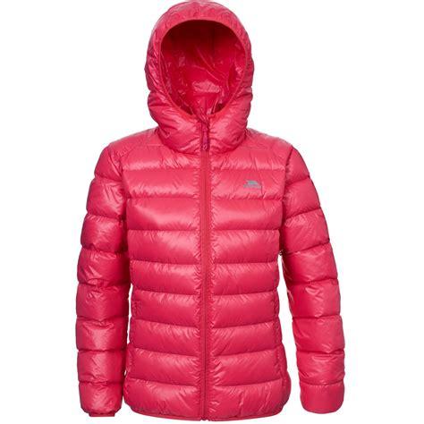 light puffer jacket with hood trespass womens ladies lightweight hooded martine down