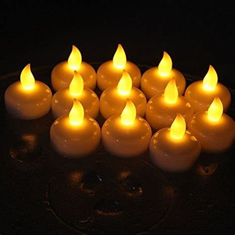 Floating Candles set of 24 flameless floating candles battery operated tea