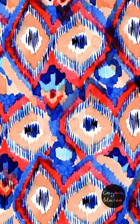watercolor ikat pattern watercolour textiles and abstract on pinterest