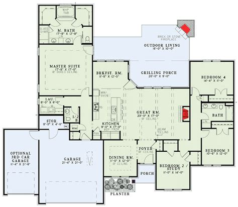floor plans with porches secluded master suite 60585nd 1st floor master suite
