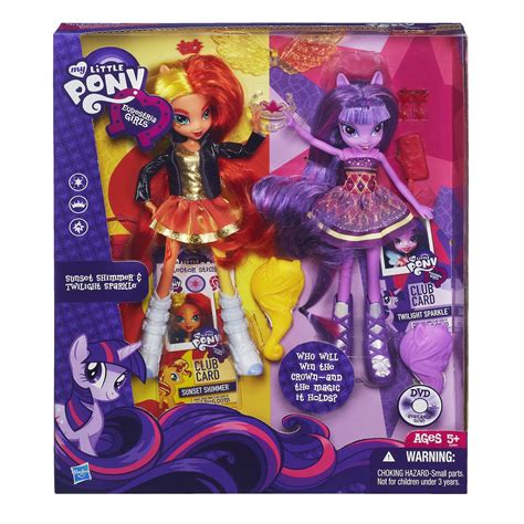 Mainan Figure Litle Pony image twilight sparkle and sunset shimmer equestria