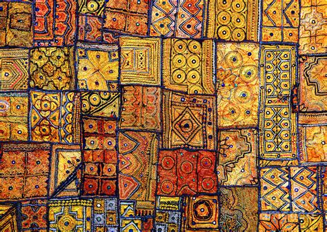 Indian Patchwork - indian patchwork carpet photograph by sorin rechitan