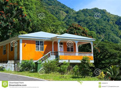 Dominica Cottages by Rural Cottage In Dominica Caribbean Editorial Photography