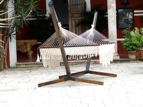 base de madera para hamaca de palo eco arquitectura