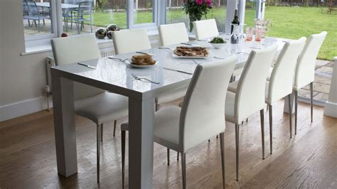 Extended Dining Table Sets White High Gloss Extending Dining Table And Chairs Uk