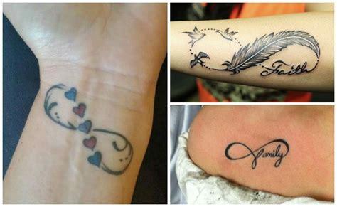 imagenes de tatuajes de infinitos con plumas tatuajes de infinito con nombres plumas iniciales y