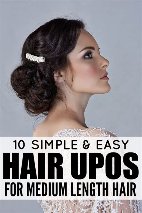 easy hairstyles for to medium length hair 10 easy glamorous updos for medium length hair