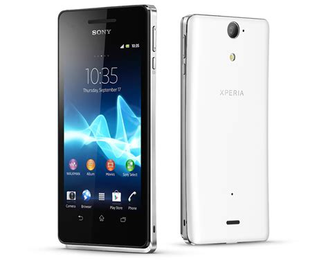 sony android smartphone technology sony xperia v android specifications sony xperia v smartphone android