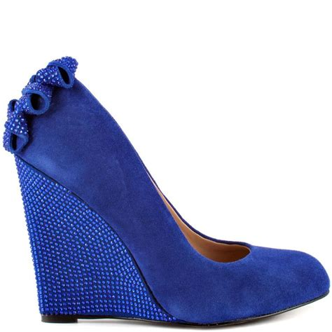 blue wedge shoes wedding shoes