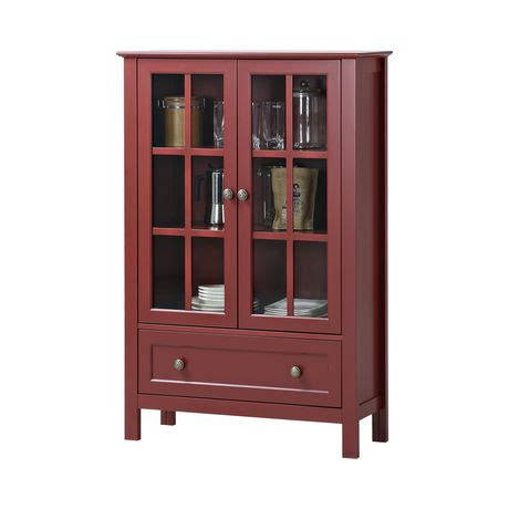 schrank rot homestar 2 door 1 drawer glass cabinet walmart canada