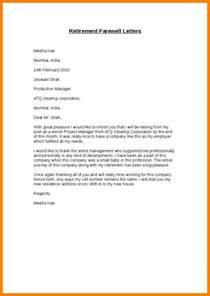 Employment Goodbye Letter Employee Farewell Letter