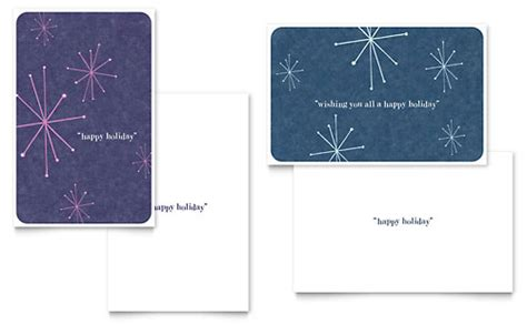 Microsoft Word Templates Place Holder Cards Winter by Winter Greeting Card Templates Word Publisher