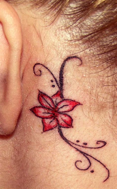 behind the neck tattoo designs 29 astounding side neck tattoos the ear