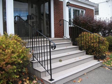 exterior banister exterior wrought iron handrails interesting including