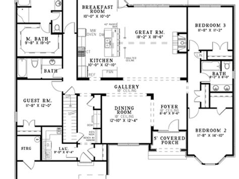 simple open floor house plans single story house one story house floor plans one floor