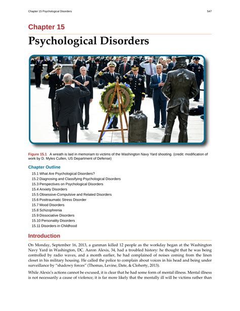 Released For Psychological Problems by Psychological Disorders Pdf Available