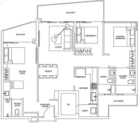 100 waterfront key floor plan two pricey bed stuy one canberra ec new launch floor plan 3 bedroom dual
