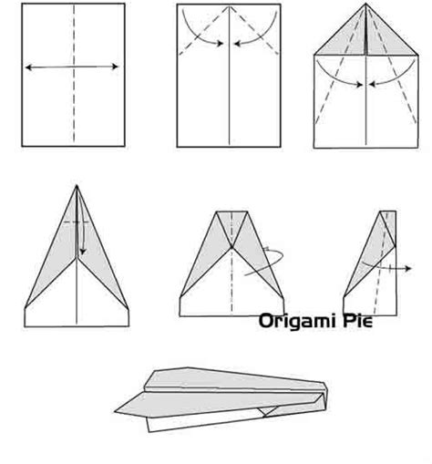 Steps For A Paper Airplane - paper airplanes origami is one of the loving thing