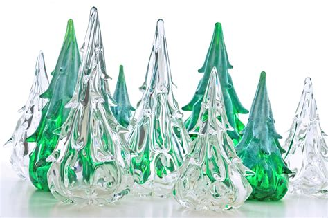 glass christmas tree christmas lights decoration