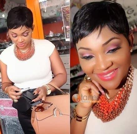 naigerian actresses hairstyles nigerian actress mercy aigbe debuts short