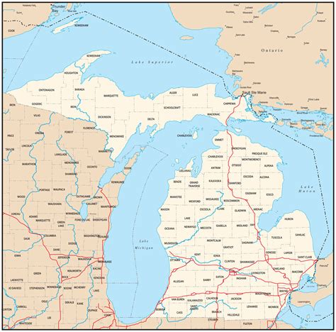 michigan state map michigan map wallpaper wallpapersafari