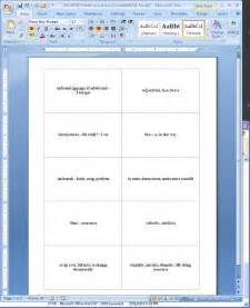 flash cards template word flash cards template for microsoft word 2003 free