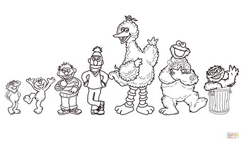 Sesame Street Characters Coloring Online Super Coloring Coloring Pages Of Sesame Characters