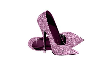 pink glitter high heel shoes standing photo