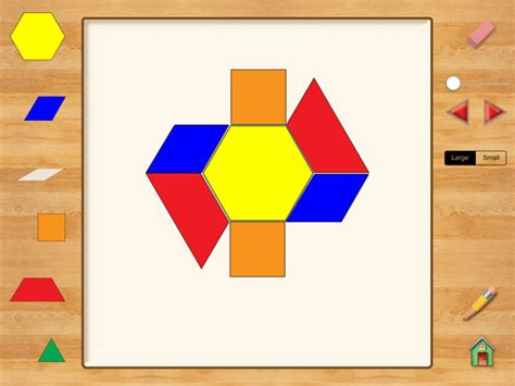 pattern shapes app hands on math pattern blocks ipad app