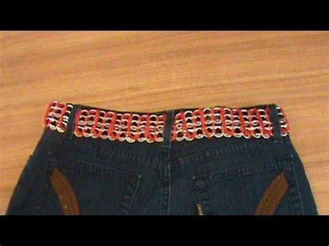 tejer con fichas de lata 1 de 3 como tejer cinturon con arillos de lata ganchillo