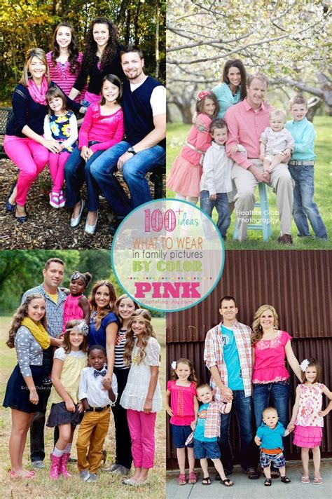 family photo color ideas family picture clothes by color pink capturing joy with
