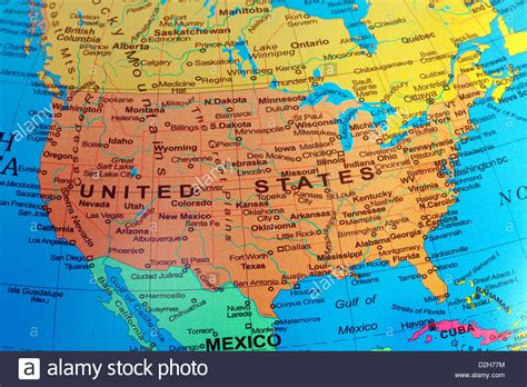 map of states a usa map of the united states of america from a globe