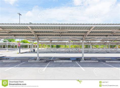 Garage Truss Design car park stock photo image 44677817