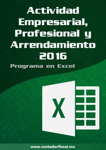 Actividad Empresarial Y Profesional 2016 Contabilidad Electronica   programa contabilidad act empresarial profesional y