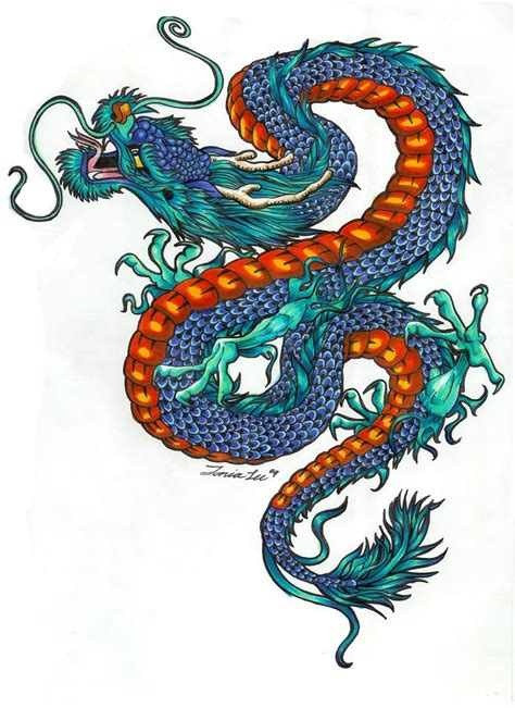 coloured dragon tattoo designs color designs with pictures dragons