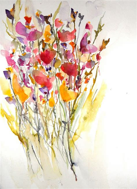 watercolor tattoo wildflowers wildflower watercolor wildflower watercolor