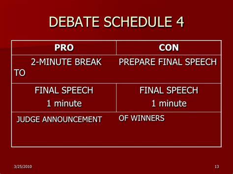 Pro Con Speech Outline by Doable Debate In The Esl Efl Classroom