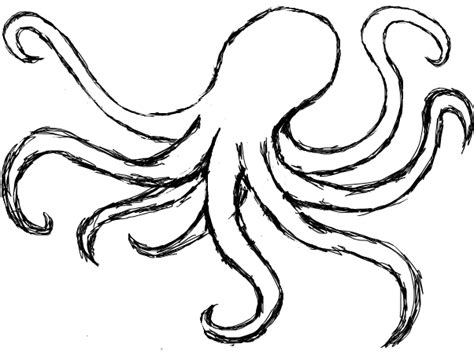 Octopus Outline by Drawing Octopus Clipart Best