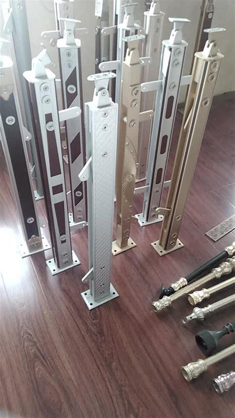 decorative luxury tempered glass railing aluminum