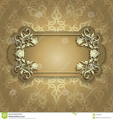 design banner elegant gold banner with beautiful pattern stock vector